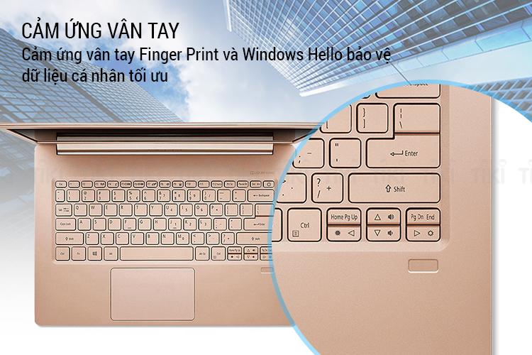Laptop Acer Swift 5 SF514-52T-592W NX.GU4SV.004 Core i5-8250U/ Win10 (14 FHD IPS Touch) - Hàng Chính Hãng