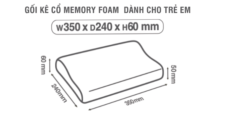 Gối Memory Foam Dành Cho Trẻ Em Lock&Lock (35x24x5cm)