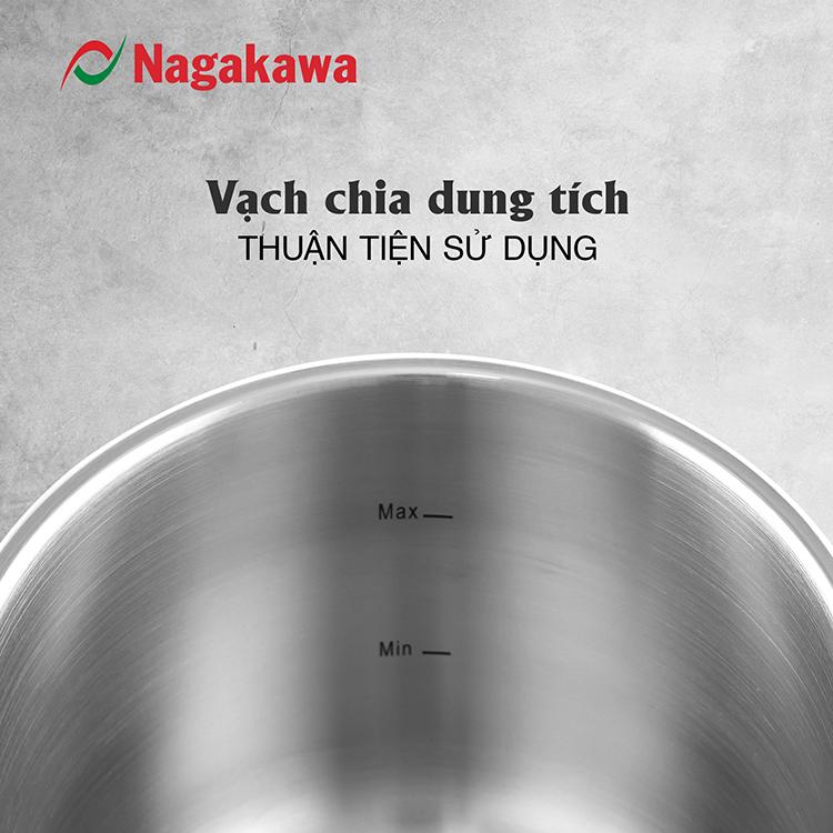 Nồi Áp Suất Cơ Đáy Từ Nagakawa NAG1472 (7L) - Lòng Nồi Inox 304, Van Kép 3 Cấp An Toàn
