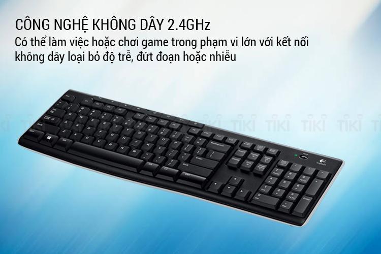 Bàn Phím Không Dây Logitech K270 - Hàng Chính Hãng