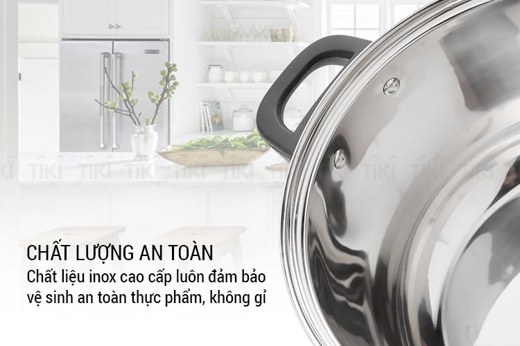 Bộ nồi inox cao cấp 4 đáy Nagakawa NAG1303 (size 16cm, 20cm, 24cm) dùng cho mọi loại bếp - Hàng Chính Hãng