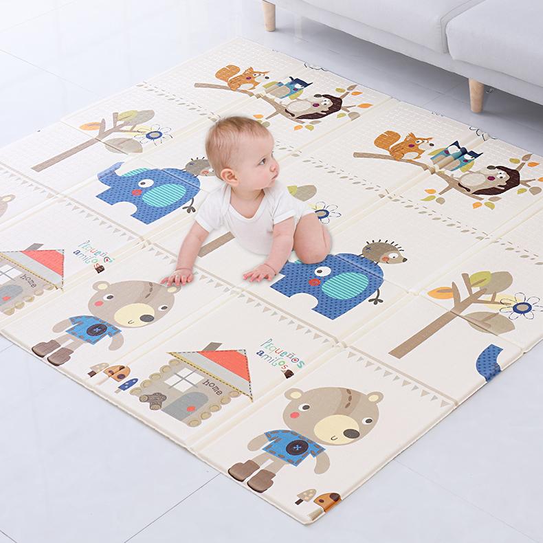 Thảm chơi cho bé Công nghệ Hàn Quốc phủ silicon chống thấm 2 mặt, nhiều mẫu 11