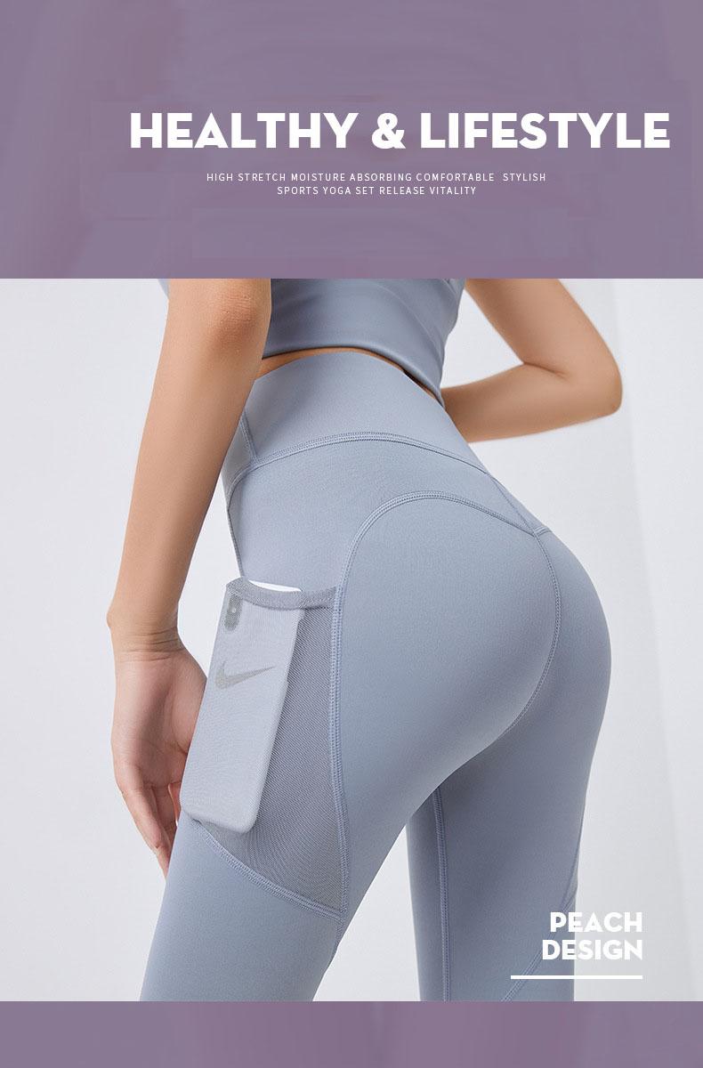 Quần thể thao nữ quần legging co giãn nhanh khô, túi hai bên phối lưới, quần yoga chạy bộ mã MTCK9016 2