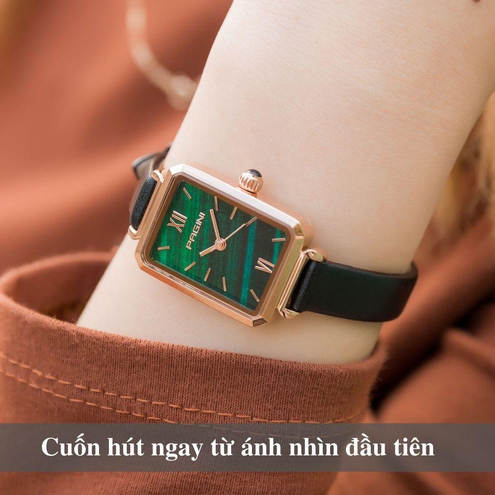 Đồng Hồ Nữ Thương Hiệu PAGINI PA6624G - Thiết Kế Mặt Vuông Độc Đáo - Hàng FullBox 6