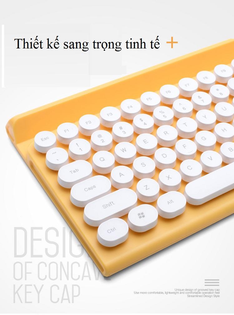 Bộ bàn phím và chuột không dây cao cấp -500 13