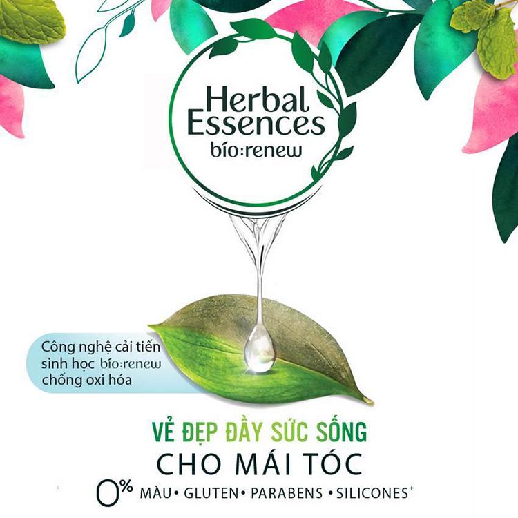 Bộ Dầu Gội (400ml) - Dầu Xả (400ml) Herbal Essence Dâu Tây Và Bạc Hà