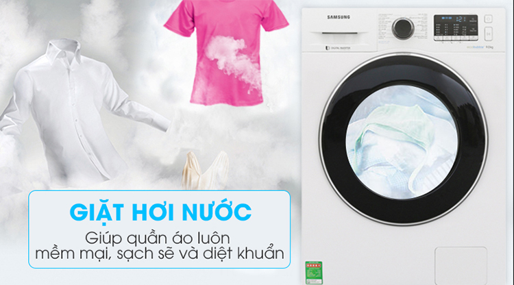 Máy Giặt Cửa Trước Samsung Inverter WW90J54E0BW/SV (9kg) - Hàng Chính Hãng