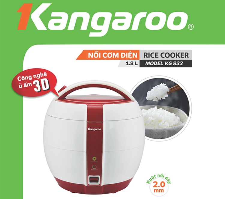 Nồi Cơm Điện 1,5L Kangaroo KG833