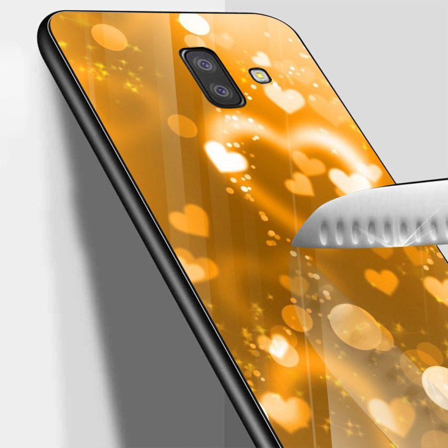 Ốp kính cường lực cho điện thoại Samsung Galaxy J6 - trái tim tình yêu MS LOVE084