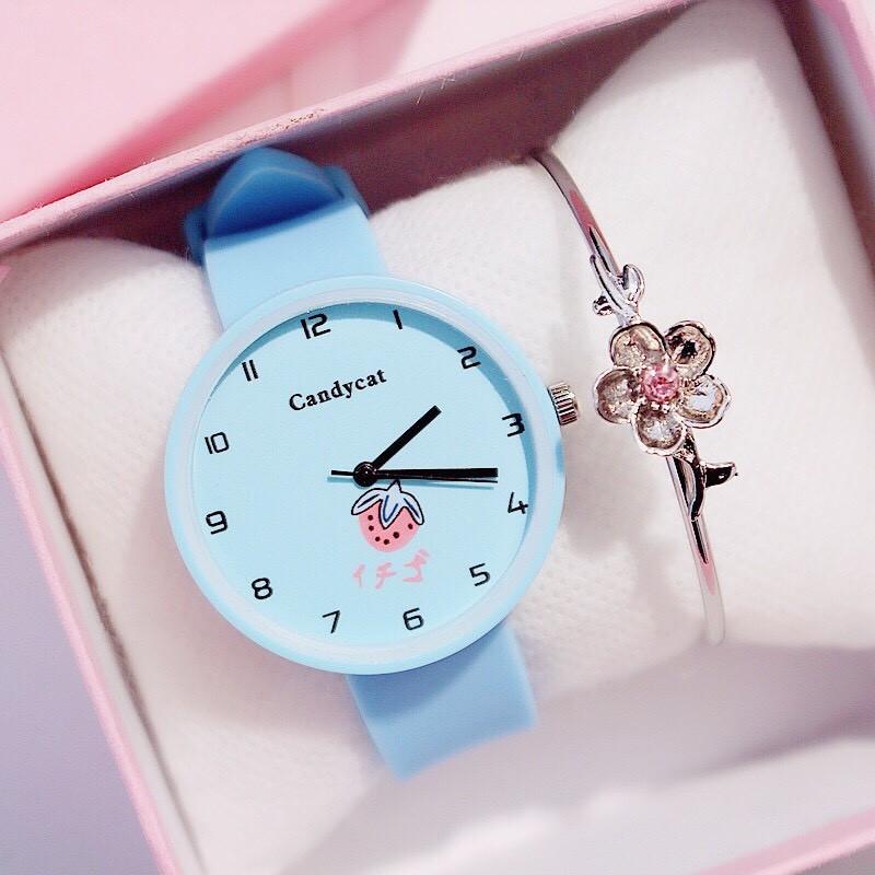 Đồng hồ nữ trái dâu Nhật Bản 4 màu thời trang 13