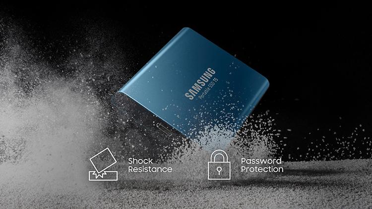 Ổ Cứng Di Động Gắn Ngoài SSD Samsung T5 MU-PA500B/AM 500GB - Hàng Nhập Khẩu