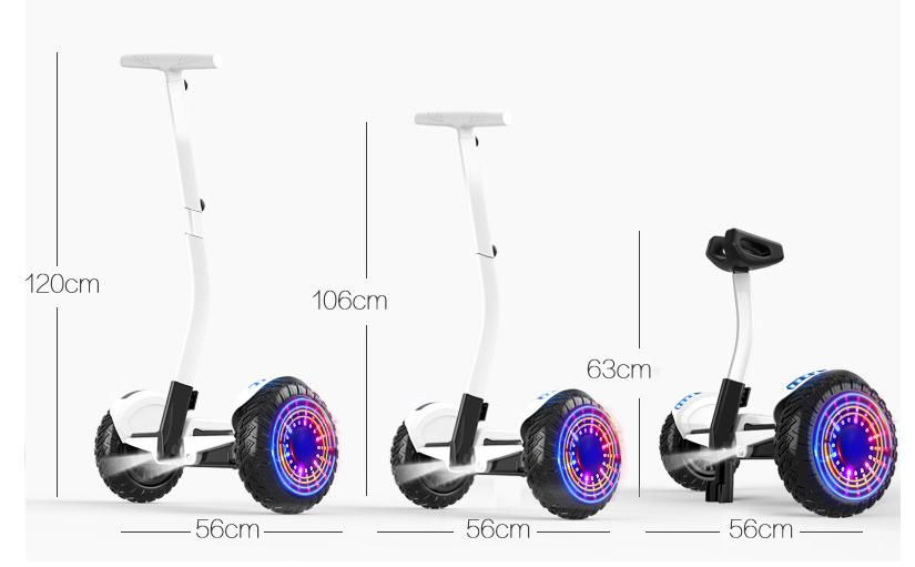 Xe điện cân bằng siêu cấp - 2 tay điều khiển và chân kẹp - Phát nhạc Bluetooth 8