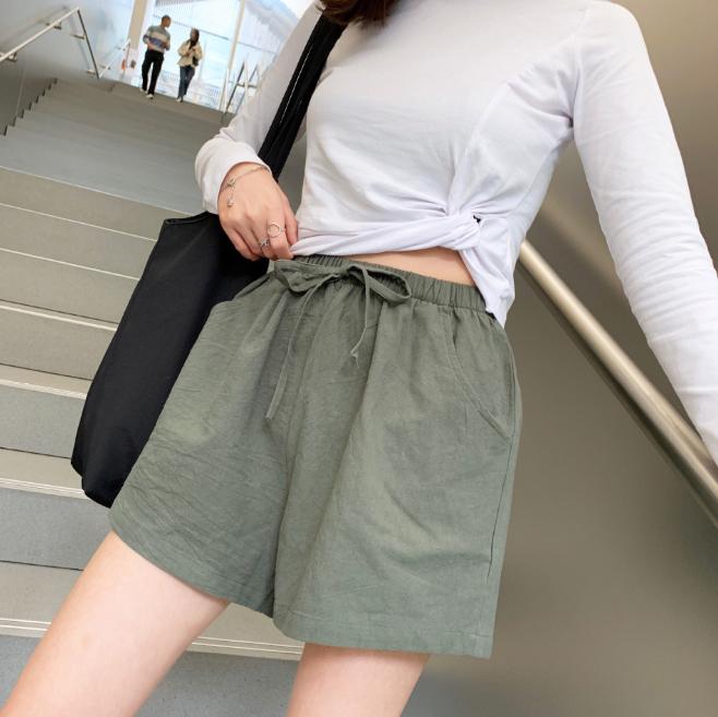 Quần đùi short nữ vải đũi thời trang mát mẻ mùa hè QĐ06 2
