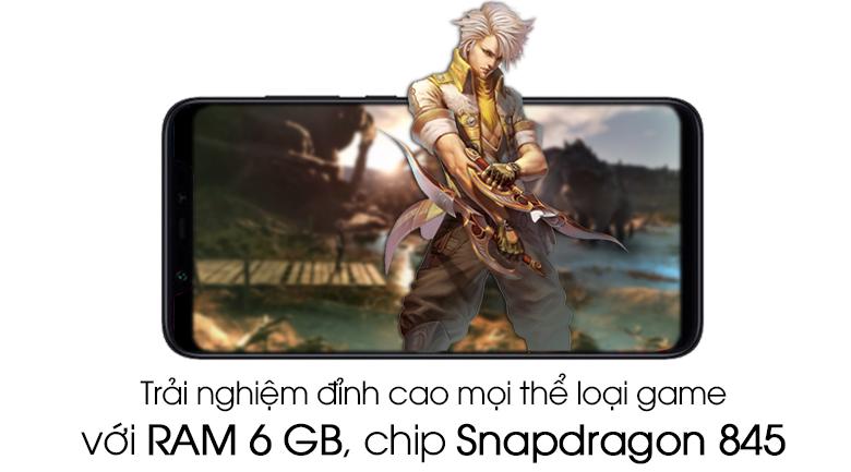 Bộ Điện Thoại Xiaomi Mi 8 (64GB/6GB) + Ốp Lưng + Cường Lực Full Màn 5D - Hàng Nhập Khẩu