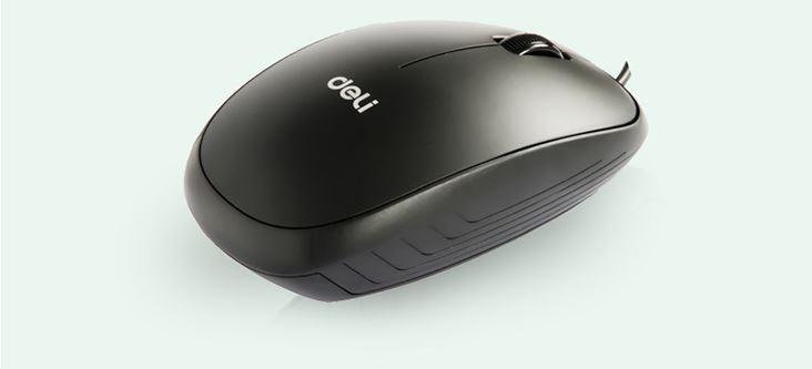 Chuột USB Có Dây Tiện Dụng Effective (deli) 3715 - Đen Cổ Điển