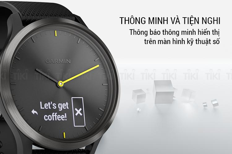 Đồng Hồ Thông Minh Garmin Vivomove HR Sport - Hàng Chính Hãng
