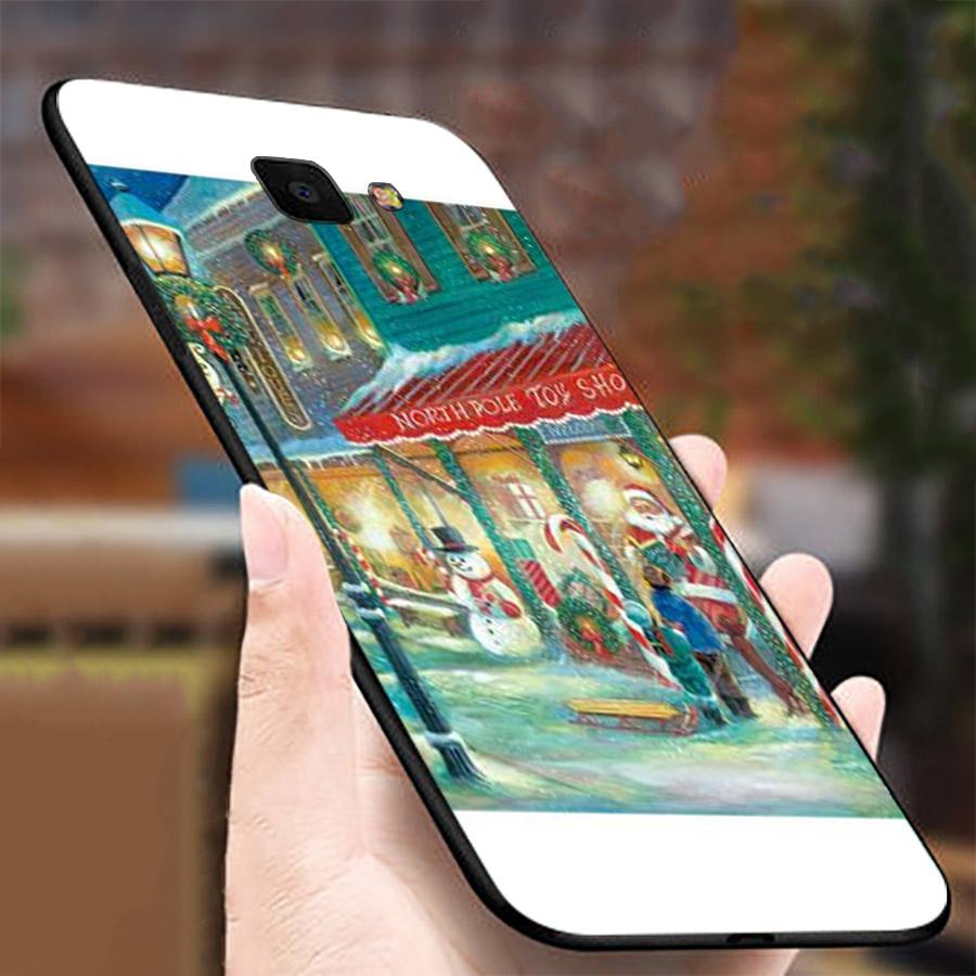Ốp lưng cứng viền dẻo dành cho điện thoại Samsung Galaxy A3 2016 - giáng sinh đầm ấm MS GSDA018