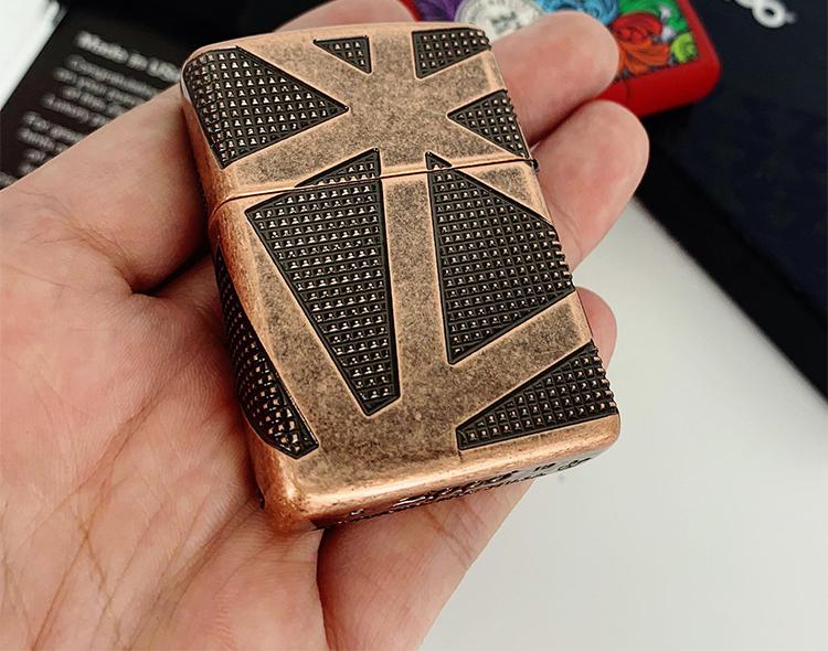 Bật Lửa Zippo 49036 Zippo Armor Geometric 360 Design Antique Copper 1
