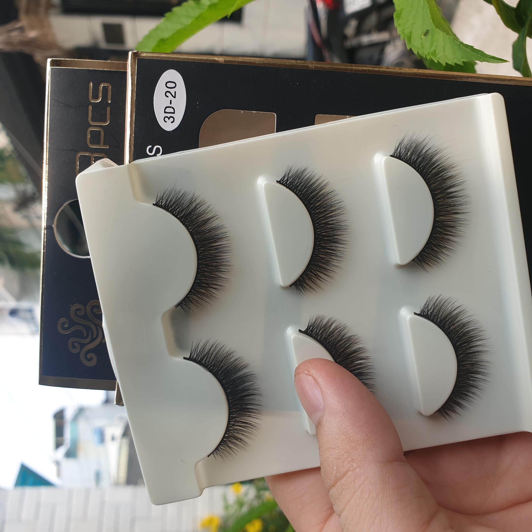 Lông mi giả lông chồn 3 Fashion Eyelashes 3 Faux-Cils 3D 1 bộ 3 cặp 80