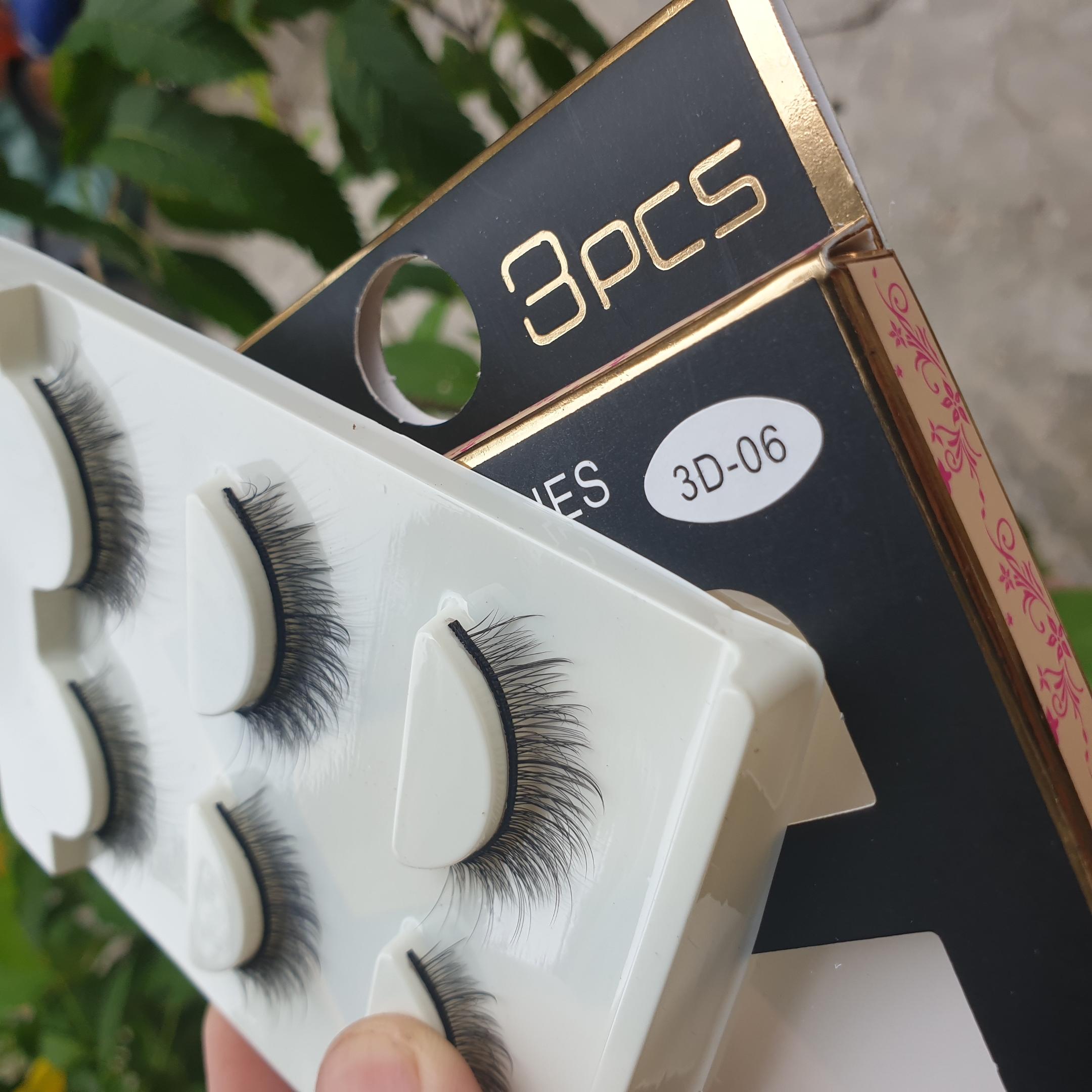 Lông mi giả lông chồn 3 Fashion Eyelashes 3 Faux-Cils 3D 1 bộ 3 cặp 24