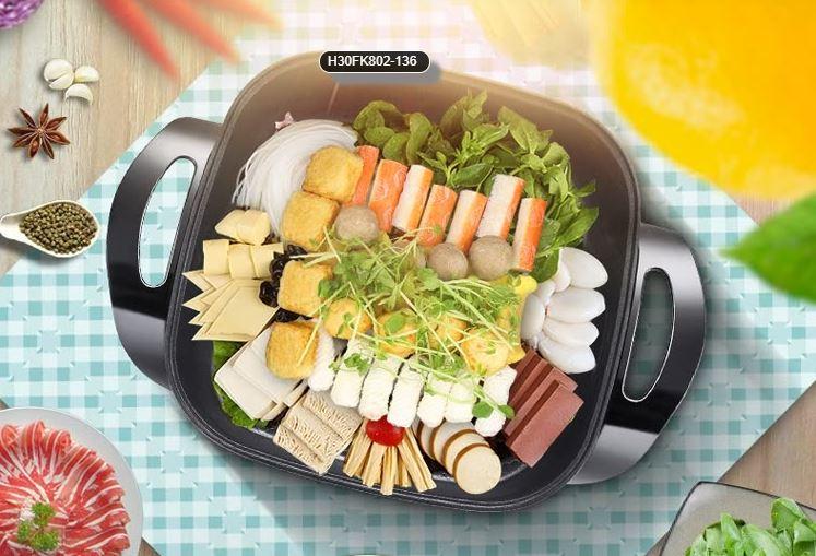 Supor (SUPOR) multi-purpose pot multi-purpose household electric hot pot H30YK803Y-150 mandarin duck hot pot