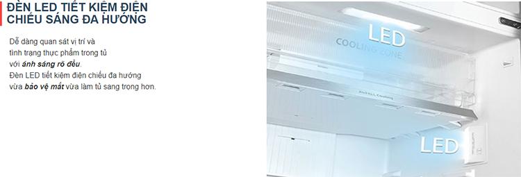 Tủ Lạnh Toshiba Inverter 312L GR-RT400WE-PMV(06)-MG - Chỉ Giao Tại HN