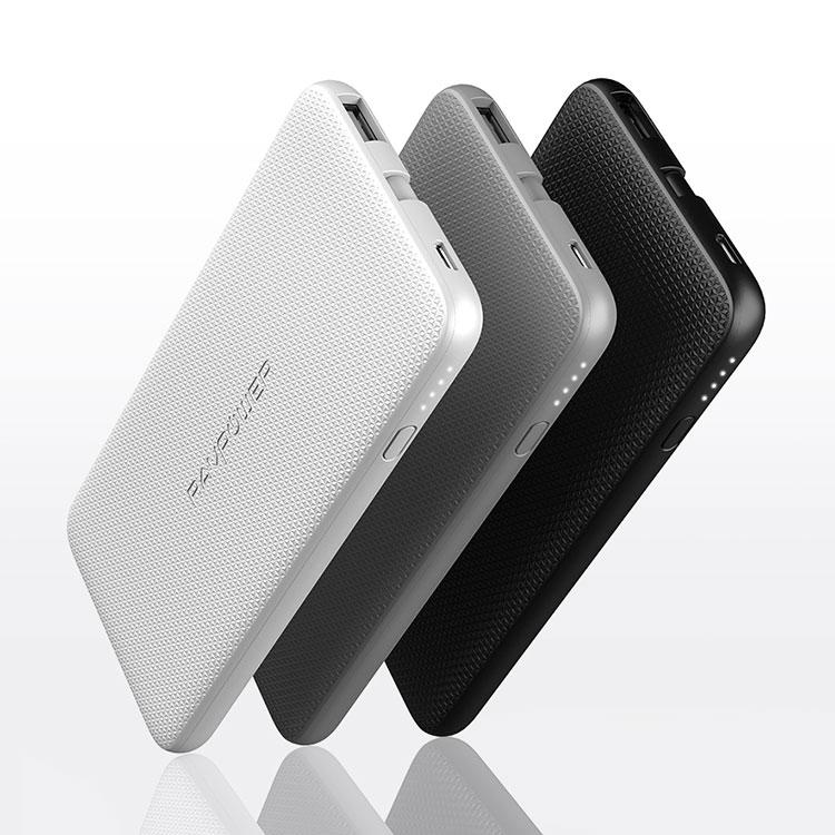 Pin Sạc Dự Phòng RAVPower 5000mAh RP-PB098 Tích Hợp Cáp Lightning Cho iPhone Chuẩn MFi - Hàng Chính Hãng - Xám