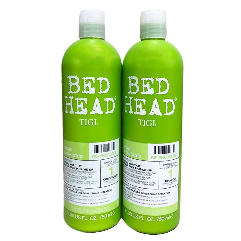 Cặp đôi gội - xả Bed Head Tigi xanh lá số 1 tái tạo sinh lực cho ...