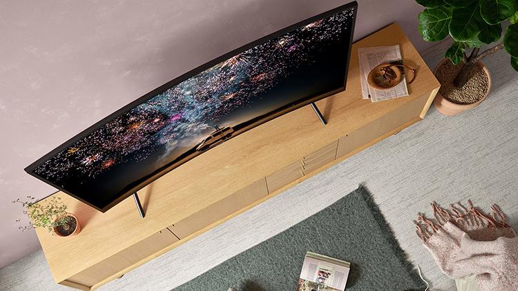 Smart Tivi Màn Hình Cong Samsung 55 inch 4K UHD UA55RU7300KXXV