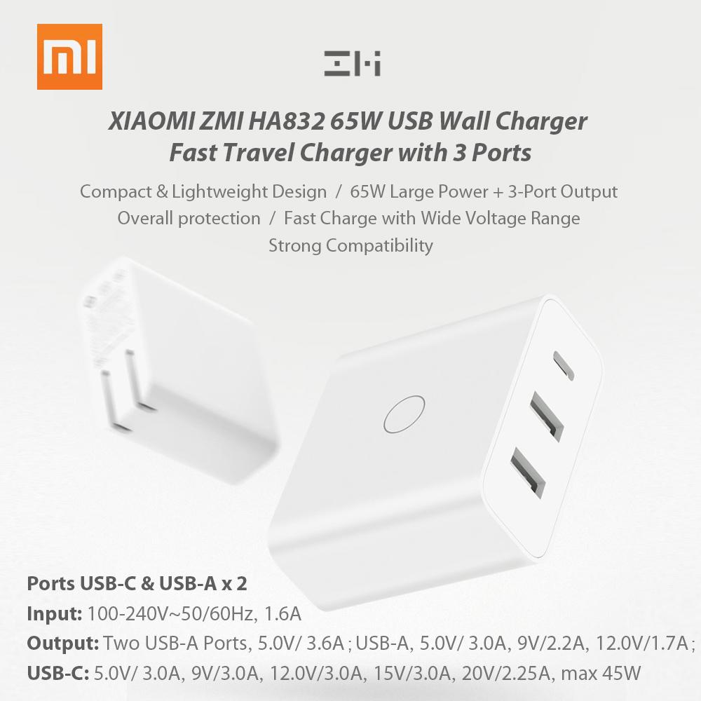 Bộ Sạc Điện Thoại Di Động Xiaomi ZMI HA832 (110-240V) (3 Cổng)