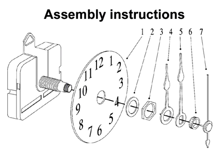 Quality Clock Movement Mechanism Parts Tool with Green Hands Quiet Silence #2
