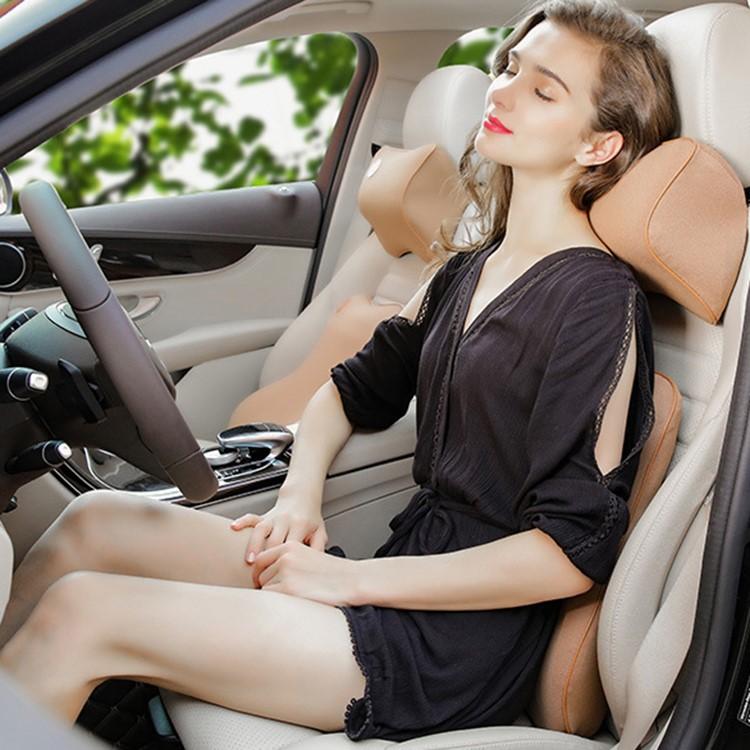 Bộ gối tựa đầu và lưng ô tô cao su non cao cấp