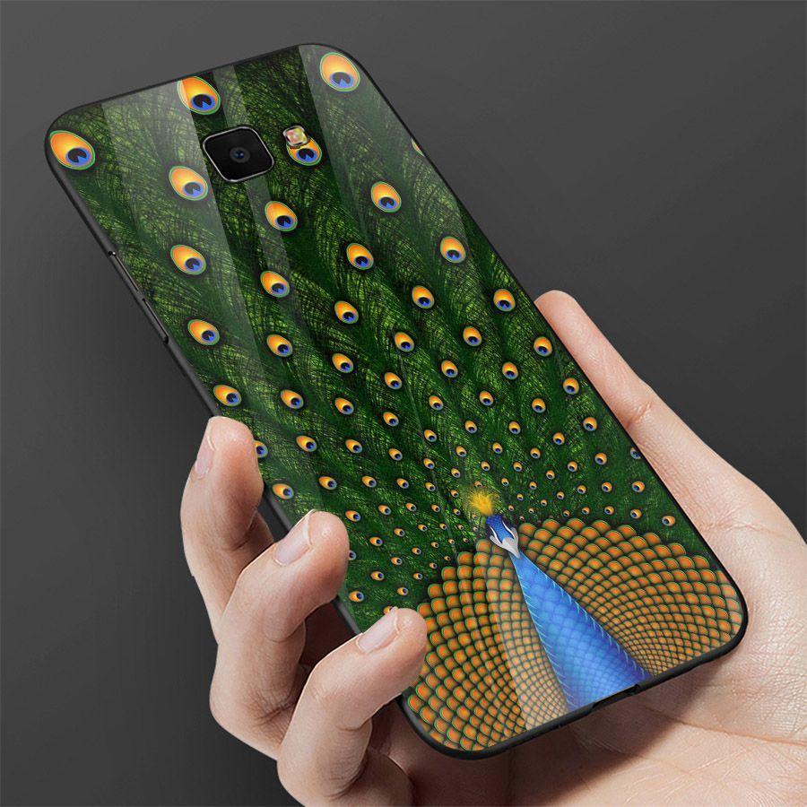 Ốp kính cường lực cho điện thoại Samsung Galaxy A7 2018/A750 - A10/M10 - A50 - A70 - chim công phượng MS CHIM  069