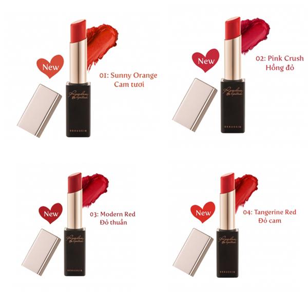 Son lì nhẹ môi Beauskin Rosedew Matte Creamy Hàn Quốc 3.5g tặng kèm móc khóa 2