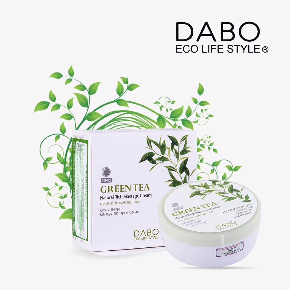 Kem massage trà xanh Dabo chính hãng Hàn Quốc - KMX TRAXANH