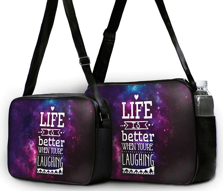 Túi Đeo Chéo Hộp Unisex Life Is Better - TCTE009