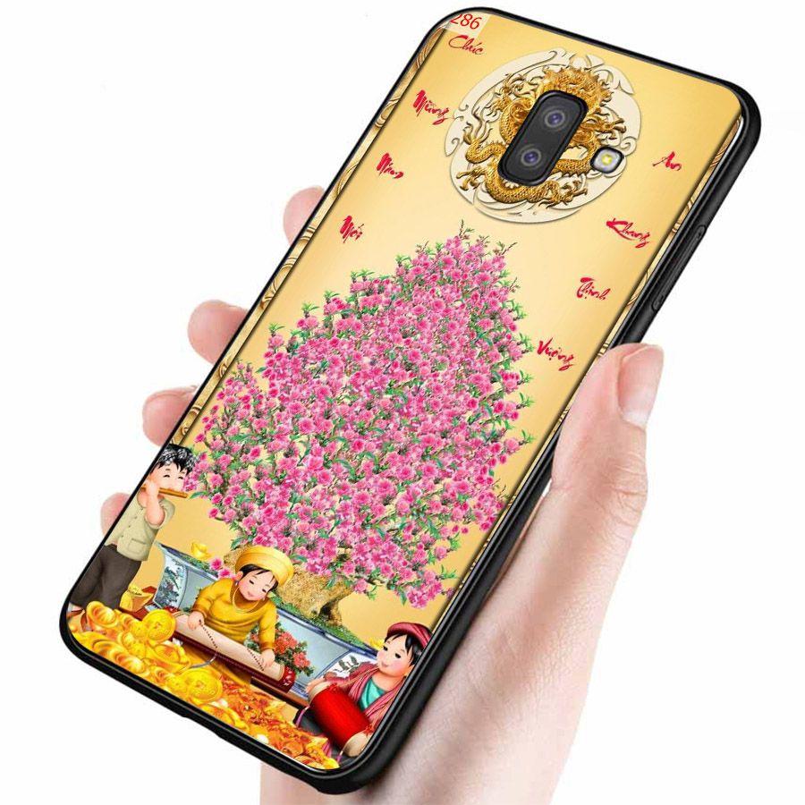 Ốp lưng điện thoại Samsung Galaxy J4 - Tranh Mai Đào MS MDAO031