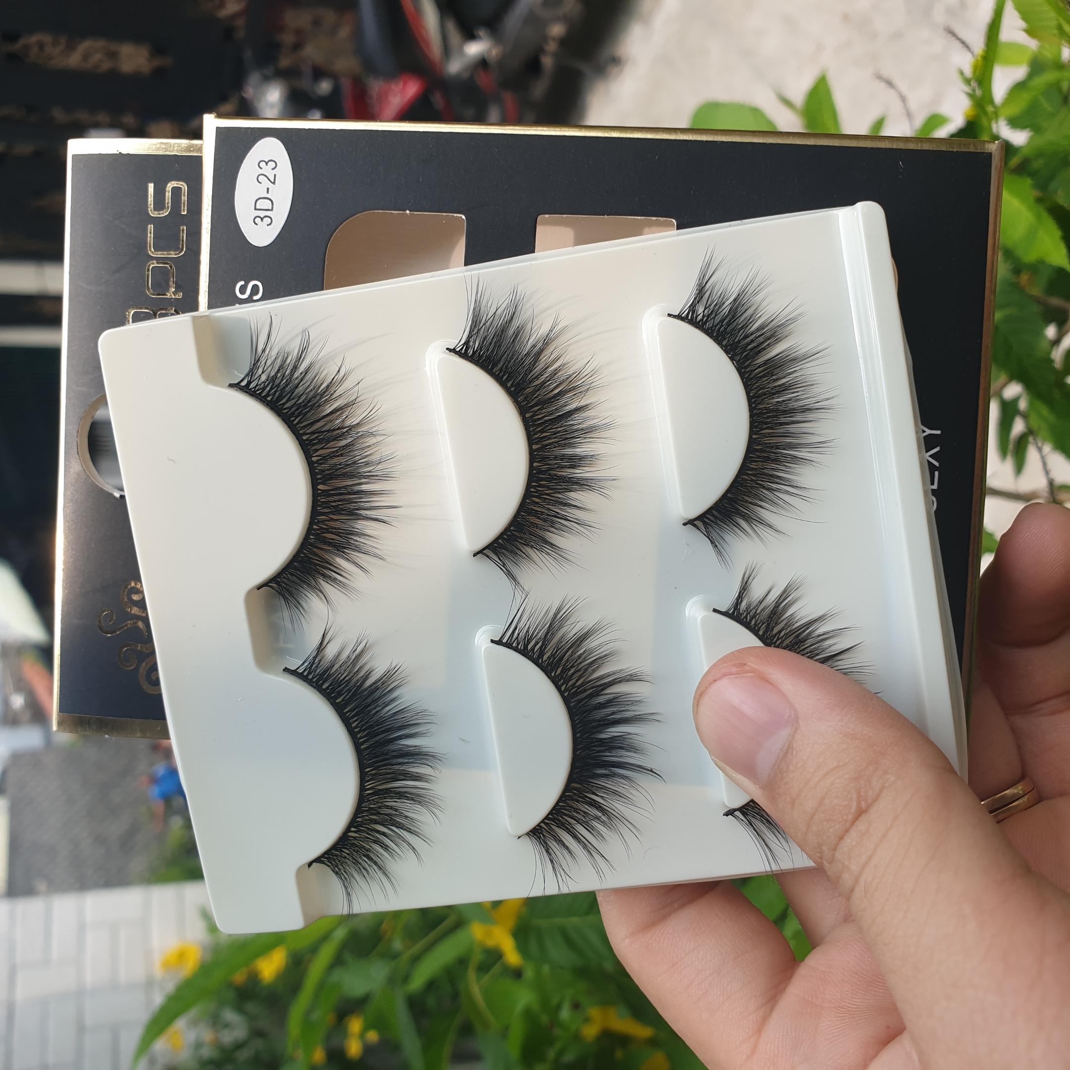 Lông mi giả lông chồn 3 Fashion Eyelashes 3 Faux-Cils 3D 1 bộ 3 cặp 92