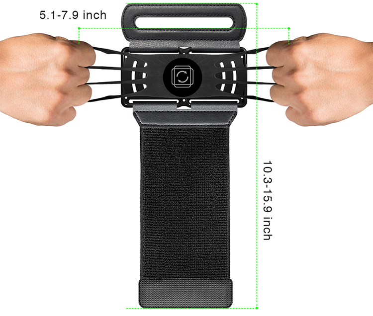 360 Degree Rotatable Sports Wristband Cellphone Holder for 4.0-6.5in Cellphones for Walking Jogging Running Hiking - Wristband