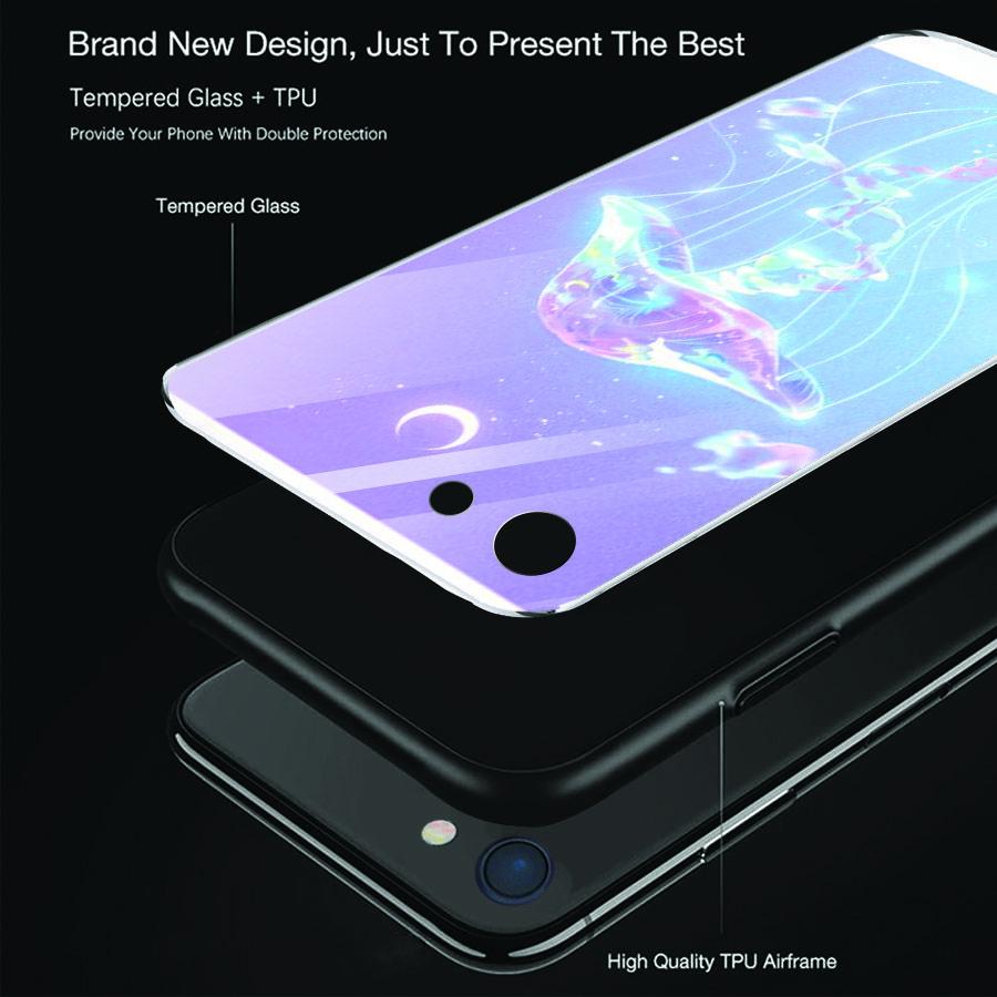Ốp điện thoại kính cường lực cho máy iPhone 5/5s/se - ánh trăng nghệ thuật MS TRANG014