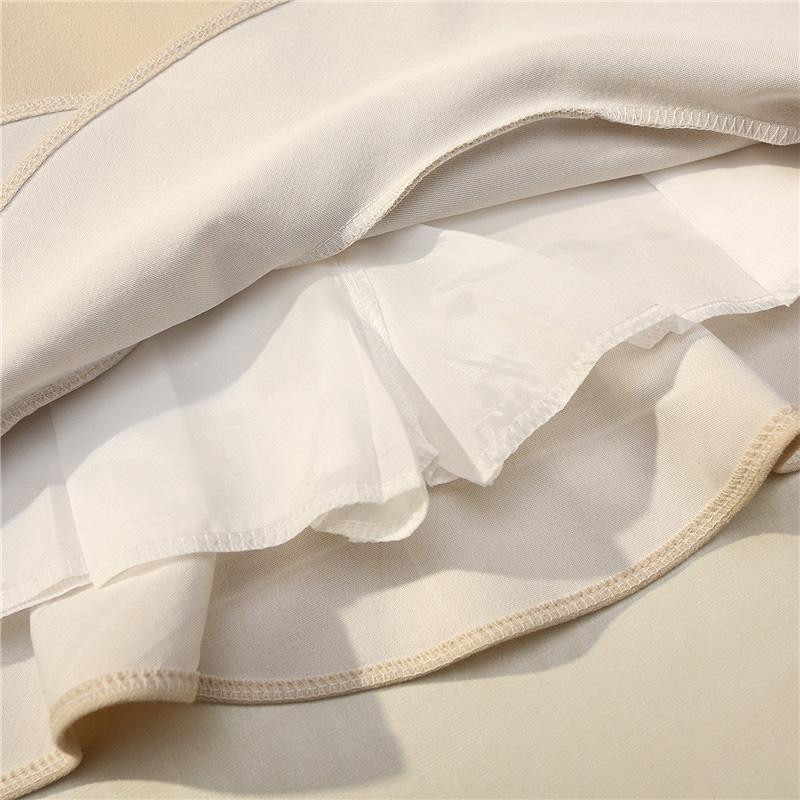 Chân váy công sở đẹp Louro L700, có lớp lót quần bên trong, dáng ngắn chữ A vẩy đuôi cá nhẹ, dễ kết hợp trang phục, đi làm đi chơi,tặng quần mặc trong váy cotton cao cấp 8