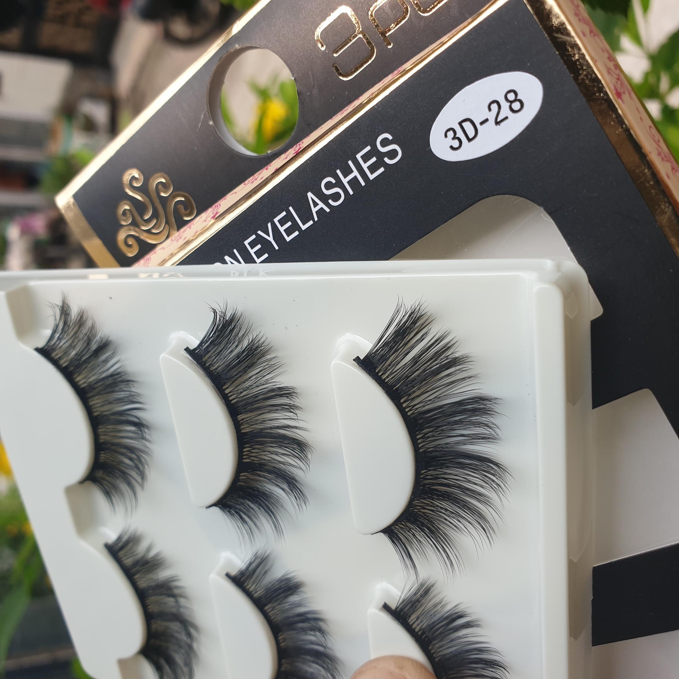 Lông mi giả lông chồn 3 Fashion Eyelashes 3 Faux-Cils 3D 1 bộ 3 cặp 113