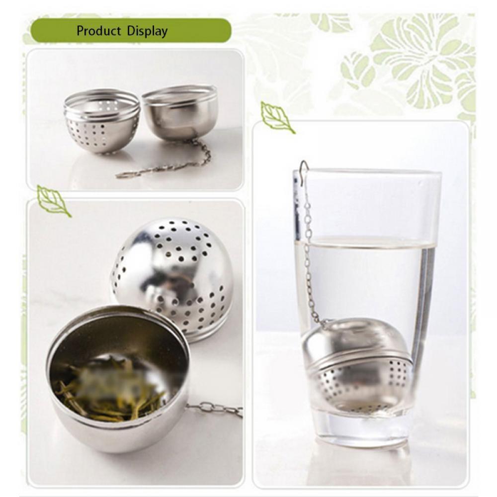 Dụng cụ lọc trà và thảo dược hình quả cầu bằng inox cao cấp