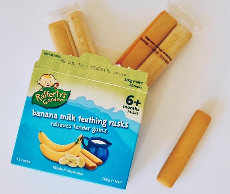 Thanh Bánh Sữa Chuối Rafferty'S Garden Cho Bé Mọc Răng (100g)
