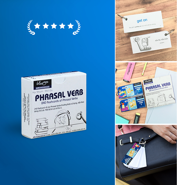 Flashcard Blueup Phrasal Verbs