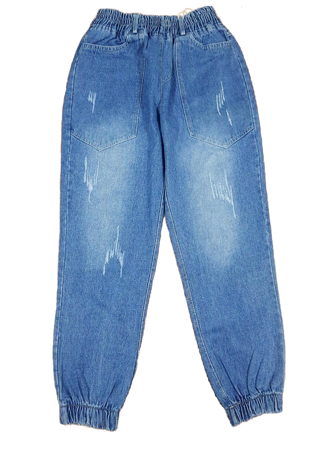 quần jean nữ baggy lưng thun freesize từ 40 - 55kg hàng made in Viet Nam 1