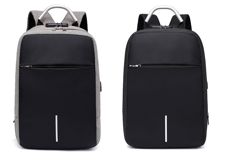 Balo laptop nam nữ thời trang công nghệ có cổng USB, phản quang và mã khóa 8