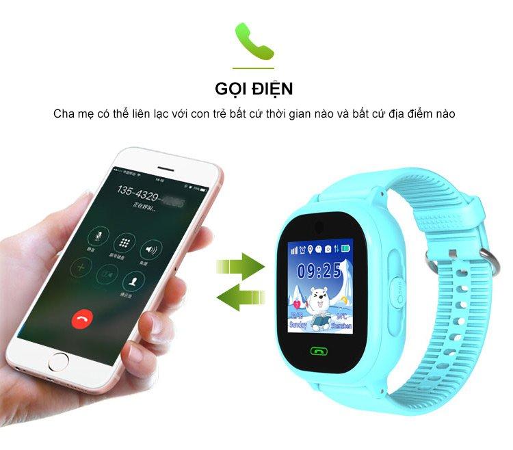 Đồng hồ định vị trẻ em GPS TD06S chống nước, có camera