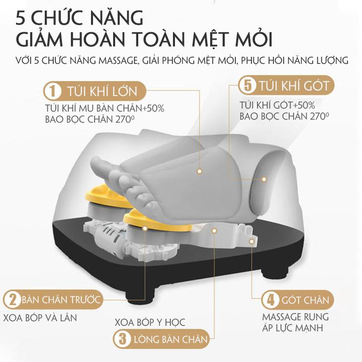 Máy Massage Chân Cao Cấp, Massage Bấm Huyệt Chân. Trang Bị Túi Khí Cảm Biến Nhiệt Hồng Ngoại. Nâng Cao Sức Khỏe Gia Đình Bạn. 7