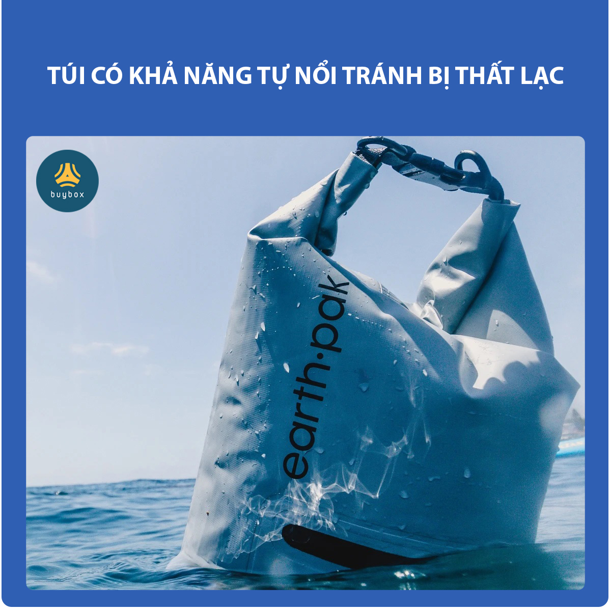 Balo chống nước đi phượt chất liệu 500D PVC sản xuất tại Việt Nam - 10L, 20L, 30L, 40L, 55L - buybox - BBPK161 có khả năng nổi trên mặt nước giúp chống thất lạc đồ
